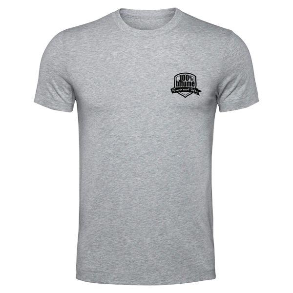 Motorcycle T-Shirts 100% Bitume Supermot Life Grey