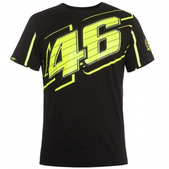 Motorcycle T-Shirts VR 46 T-Shirt Black Yellow VR46