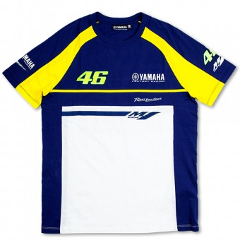 Motorcycle T-Shirts VR 46 T-Shirt Blue Royal Yamaha VR46