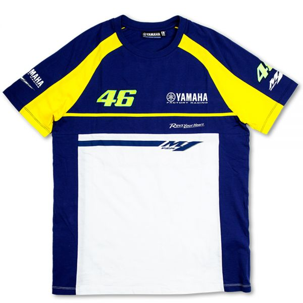 77ce98af59e0 Motorcycle T-Shirts VR 46 T-Shirt Blue Royal Yamaha VR46