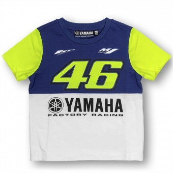 Motorcycle T-Shirts VR 46 T-Shirt Junior Yamaha Blue VR46
