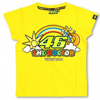 Motorcycle T-Shirts VR 46 T-Shirt Kid Yellow VR46