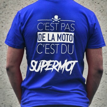 Motorcycle T-Shirts Kikaninac T-Shirt Supermot Blue
