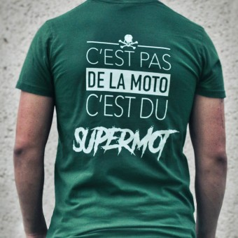 Motorcycle T-Shirts Kikaninac T-Shirt Supermot Kaki