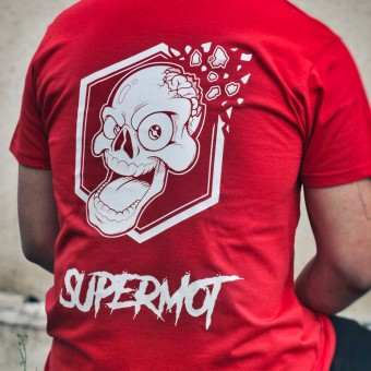 Motorcycle T-Shirts Kikaninac T-Shirt Supermot Skull Red