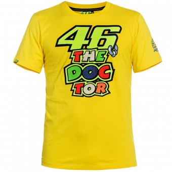 Motorcycle T-Shirts VR 46 T-Shirt Yellow The Doctor VR46
