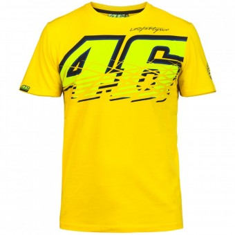 Motorcycle T-Shirts VR 46 T-Shirt Yellow VR46