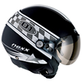 Casque Open Face Nexx X60 POP 01 Black White